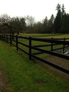 Open-looking fencing with the added dog-security of wire fencing -- great for the front of the property
