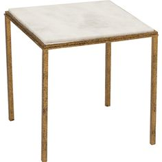 Hammered Gold Square Table, $279
