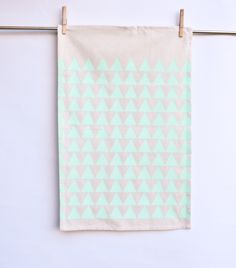 Mountains of Montana - hand printed triangle, decorative kitchen towel