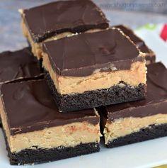 The Best Buckeye Brownies Recipe Homemade Peanut Butter, Peanut Butter Fudge, Homemade Chocolate, Chocolate Recipes, Buckeye Brownies, Fudge Brownies, Chocolate Brownies, Chocolate Ganache, Ganache Icing