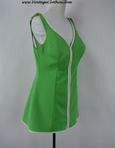 1960s Cole of California stretchy one piece swimsuit/bathing suit in green with white piping www.vintageclothin.com #swimsuit #1960sswimsuit #vintageswimsuit #1960 #1960s #bathingsuit #vintageclothes #vintageshop #vintagestore #vintageclothing #vintageclothin #vintagewear #vintage #dressvintage #vintageseller #vintageclothin.com #retro #retroclothes #retroclothing #vintagefashion #forsale #buyme #green #white #green #pinup #1960sbathingsuit #ColeofCalifornia #ColeofCaliforniaSwimsuit