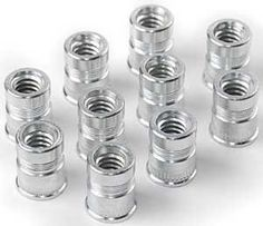 JEGS Performance Products 80484 Rivet Nut Inserts by JEGS. $7.99. This unique accessory allows for the installation of a permanent threaded insert for thread repairs or for a completely new retention device. Easily removable for periodic maintenance while providing a firm base that resists stripping of the threads and pulling through the mounting surface as is common with sheet metal screws. Available in a variety of thread sizes (6-32, 8-32, 10-24, 10-32, 1/4''-20, 5/16'...