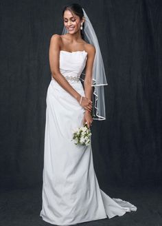 Sample: Taffeta Strapless A-line Wedding Dress - Ivory, 4