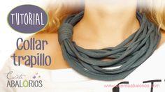 Como hacer collar de trapillo sin cadena. #trapillo #tutorial #collar