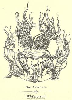 the symbol of rebellion. #hungergames