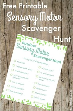 The Inspired Treehouse - This outdoor sensory motor scavenger hunt for kids is the perfect way to explore the sense and the outdoors!