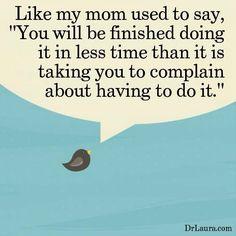 Complaining...