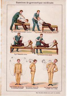 Les exercices de gymnastique médicale. 1902. F. E. Bilz (https://www.pinterest.com/pin/287386019949789267/) - Nouvelle Méthode pour guerir les maladies.