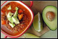 Vegan Mexican soup with quinoa