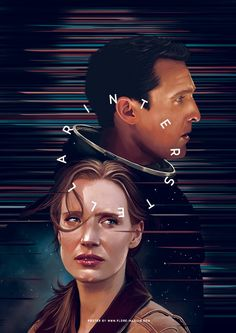 Digital arts, digital painting, artwork, fan art, interstellar, Christopher Nolan, Matthew McConaughey, Jessica Chastain, poster in Artwork / Print