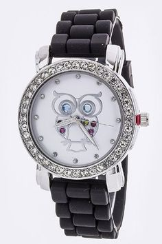 TRENDY FASHION Crystal Owl Jelly Watch BY FASHION DESTINATION