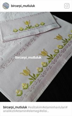this pin was discovered by Hardanger Embroidery, Hand Embroidery Stitches, Embroidery Needles, Embroidery Designs, Cross Stitch Borders, Cross Stitch Patterns, Floral Tablecloth, Bargello, Straight Stitch