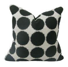 Custom Black Burst Pillow