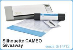 silhouette cameo giveaway!! ends 6/14/12 + exclusive discount info