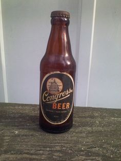 1940's Haberle Congress Brewing Co Beer Bottle 7oz Junior Paper Label & Free Cap