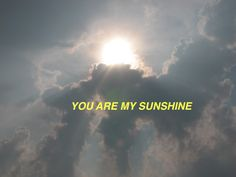 My only sunshine you make me happy when skies are grey, you'll never know, how much I love you.. Please don't take my sunshine away