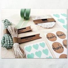 Mint Love Gift Wrap Kit - Once Upon Supplies (via @Fab)