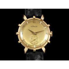 Jaeger-LeCoultre 1951 Vintage Ships Wheel 14k Gold Rare Watch