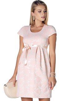 3291 - Çiçek Desenli Jakar Hamile Elbise Pudra ve Hamile Abiye Kategorimizdeki Onlarca Hamile Giyim Ürünü İçin Ebru Maternity