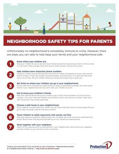 Unfortunately no neighborhood is completely immune to crime. However, there are steps you can take to help keep your family and your neighborhood safe. This useful pdf will help you create a safe neighborhood to live in. Neighborhood Watch, Thing 1, Free Infographic, Good Neighbor, Super Mom, Safety Tips, Child Safety, Things To Know, Parenting Advice