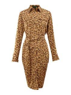 Lauren by Ralph Lauren Ristea leopard print shirt dress Khaki - House of Fraser