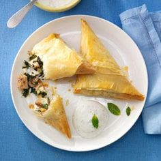 Chicken  Mushroom Spanakopitas Recipe from Taste of Home from our friends at Tyson