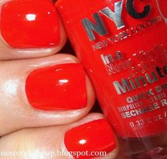 NYC In a New York Color Minute Quick Dry Nail Polish in Carnival Red from the summer 2014 limited edition City Samba collection
