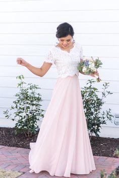 Melanie Top and Keaton Maxi Skirt Bridesmaid separates by Love Tanya.