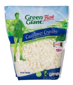 """So excited about the new Green Giant Fresh cauliflower crumbles! Ask your produce manager to get these if you don't have them yet! Perfect for cauliflower crust, mash, salads and even cauliflower """"potato"""" salad! So good!!!"""