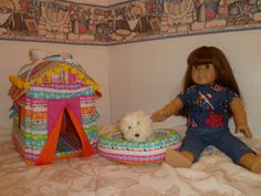 American Girl Dog house and bed for coconut toasty by Just4Dolls, $30.00