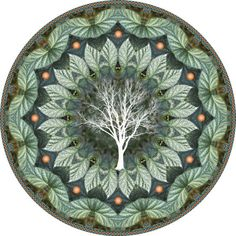 This botanical mandala, created from begonia foliage, reminded me of a green sunflower. I was inspired to include the silhouette of a lovely