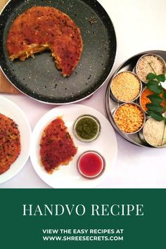 Handvo is an Indian snack made of using rice,lentils and fresh vegetables alongwith some spices Indian Snacks, Indian Food Recipes, Vegetarian Recipes, Cooking Recipes, Healthy Recipes, Best Comfort Food, World Recipes, Your Recipe, Savoury Cake