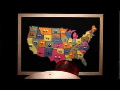 States and Capitals Song by Musical Stew. Kids will want to hear it again and again! And you won't even mind :)