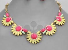 pink/neon statement necklace