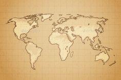 World Map Vector EPS. Download here: https://graphicriver.net/item/world-map/12943280?ref=ksioks