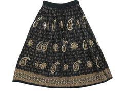 "Peasant Skirt, Womens Bohemian Chic Black Brown Skirt Dcrapechic Sequin Skirt 36"" Mogul Interior, http://www.amazon.com/dp/B009QV0EIM/ref=cm_sw_r_pi_dp_.a3Fqb094V2QK"