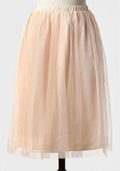 flowy peach tulle skirt