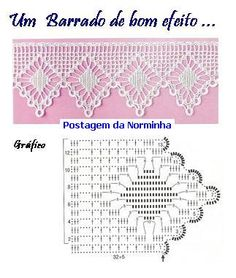 crochet - filet edgings - barrados / bicos filet - Raissa Tavares - Picasa Web Albums                                                                                                                                                      Mais