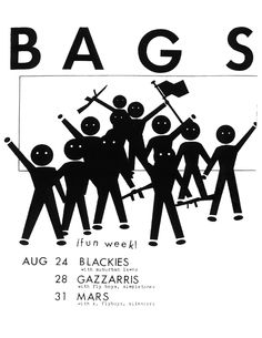 Aug 24, 28, 31, 1979?  Blackies, Gazzari's Mars, Los Angeles.  The Bags, The Suburban Lawns, The Flyboys, The Simpletones, X, The Silencers.