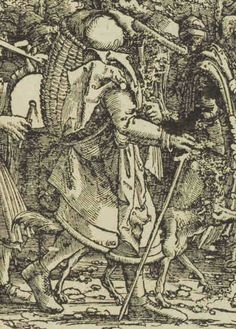 1512 (commissioned) ca. 1516 - 1519 (made) Burgkmair, Hans, born 1473 - died 1531 (artist) Triumph of the Emperor Maximilian I   DETAIL © Victoria and Albert Museum, London.