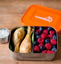 LunchBots Duo Orange Stainless Steel Divided Food Container