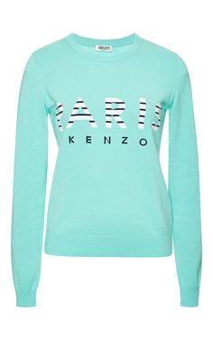 Kenzo Resort 2015 Collection l Paris Kenzo Intarsia Cotton Sweatshirt