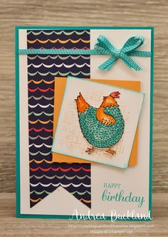 Hello and welcome to my stop on today's blog hop.  As soon as I saw the chickens in the Sale-a-bration set Hey Chick I knew I had to ...