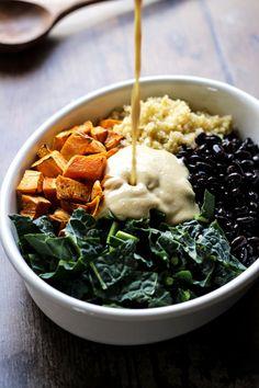 Roasted Garlic Sauce • Happy Kitchen Vegetarian Comfort Food, Vegetarian Recipes Dinner, Delicious Vegan Recipes, Vegan Meals, Vegan Casserole, Sweet Potato Casserole, Roasted Garlic Dressing, Vegan Roast, Grilled Veggies