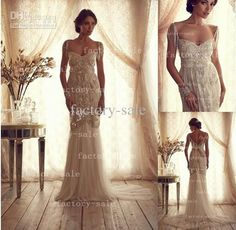 Wholesale 2014 Wedding Dress - Buy 2014 Wedding Dresses Sexy A-line V Neck Off The Shoulder Tulle Backless Summer Bridal Gowns with Bow Sequins Beads Pearls BO2214, $269.0 | DHgate