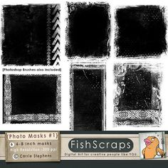 Photographer Tools  Grunge Clipping Masks - Photo Masks for Commercial Use.