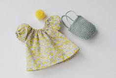 rag doll dress with crochet basket rag doll by pompondolls on Etsy