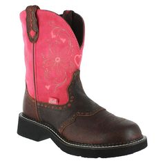 """Justin Women's 8"""" Gypsy Heart Round Toe Western Boots - Wish List, Also in Teal."""
