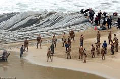A Lannister always pays his debts: Meeting on the beach in the midst of a contingent of th...