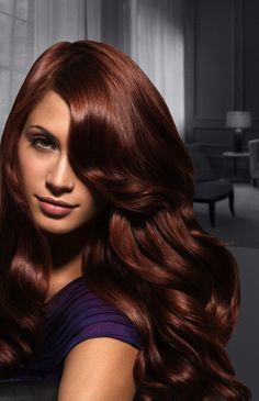 Deep auburn hair color